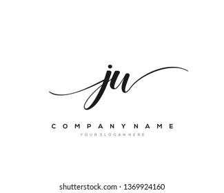 JW handwriting initial  logo vector