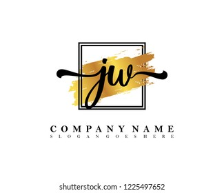 JW Initial handwriting logo concept