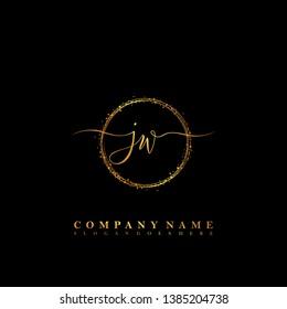 JW Initial luxury handwriting logo vector