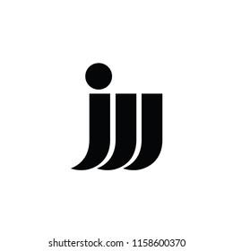 jw letter vector logo. w letter vector logo