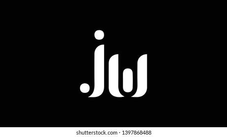 JW logo design template vector illustration