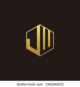 JW Logo Monogram with Negative space gold colors