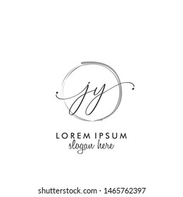JY Initial beauty monogram logo vector