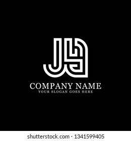 JY initial Letter logo, logo monogram, clean and modern design