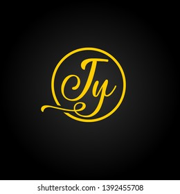 JY or J Y letter alphabet logo design in vector format.