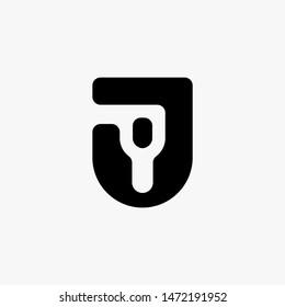 JY letter logo premium design