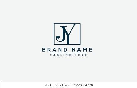 JY Logo Design Template Vector Graphic Branding Element.