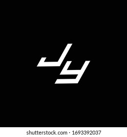 JY logo monogram with up to down style modern design template isolated on black background