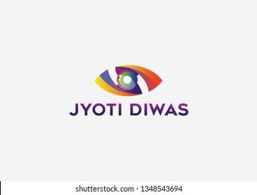 Jyoti diwas logo design