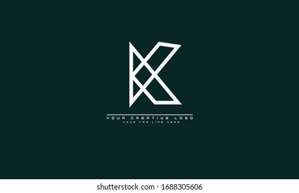 K abstract vector logo monogram template