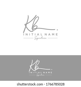 K B KB Initial letter handwriting and signature logo.