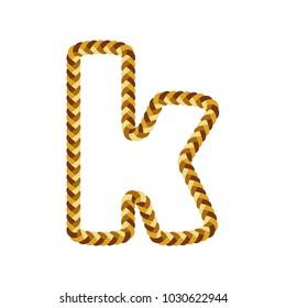 K Braid Letter Logo Icon Design