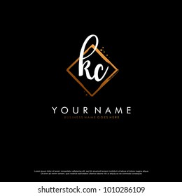 K C Initial abstract logo template vector