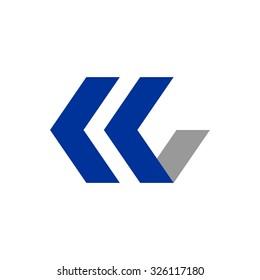 K C Initial Logo
