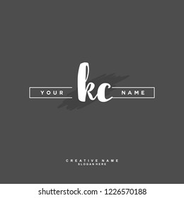 K C KC Initial logo template vector