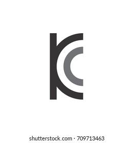 k and c letter logo