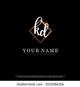 K D Initial abstract logo template vector