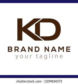 K D Initial Letter Logo Vector Element. K D Initial Template