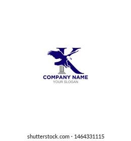 K Eagle Legal Logo Design Vector