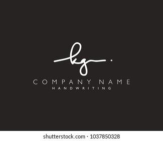 K G Initial handwriting logo