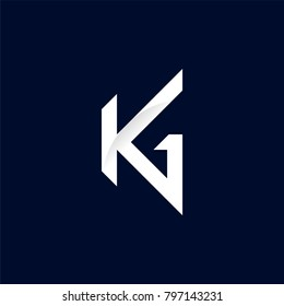 K G letter logo vector. The combination of K and G. Logo template for your business.