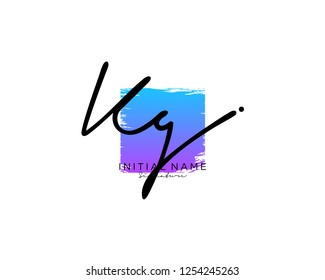 K G Signature initial logo template vector