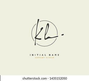 K H KH Beauty vector initial logo, handwriting logo of initial signature, wedding, fashion, jewerly, boutique, floral and botanical with creative template for any company or business.