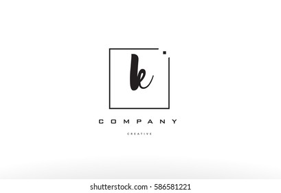 k hand writing written black white alphabet company letter logo square background small lowercase design creative vector icon template