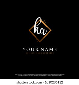 K A Initial abstract logo template vector