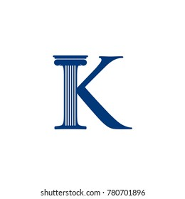 K INITIAL LOGO FOR LAW COMPANY
