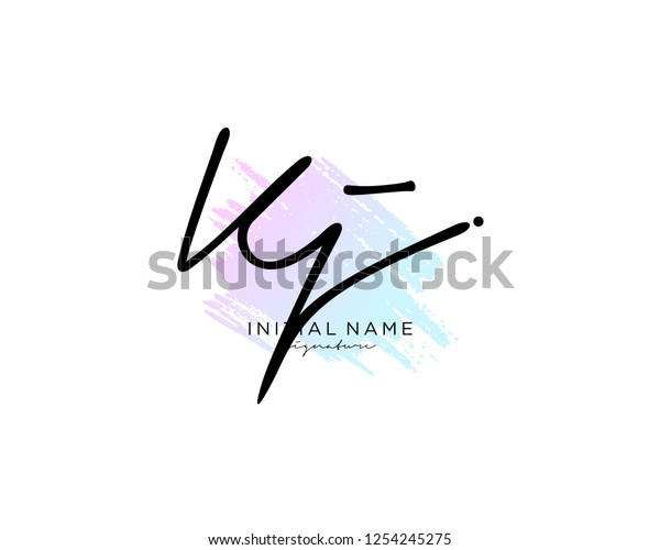 K J Signature Initial Logo Template Stock Vector (Royalty Free