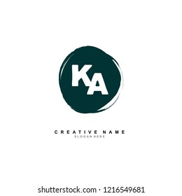 K A KA Initial logo template vector