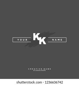 K K KK Initial logo template vector. Letter logo concept