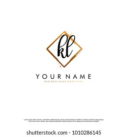 K L Initial abstract logo template vector
