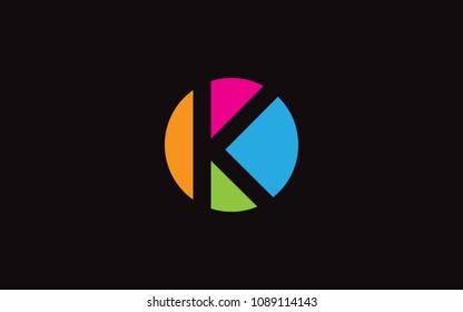 K Letter Initial Logo Design Template