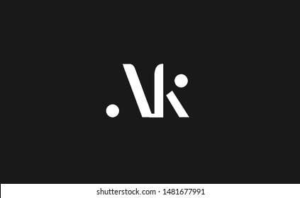 A K Letter Logo Design. Creative Modern AK Letters Icon Illustration