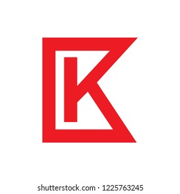 K letter logo design vector template