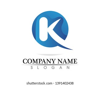 k letter k logo design and vector