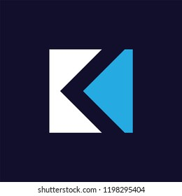 K Letter logo icon vector template