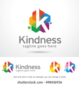 K Letter Logo Template Design Vector