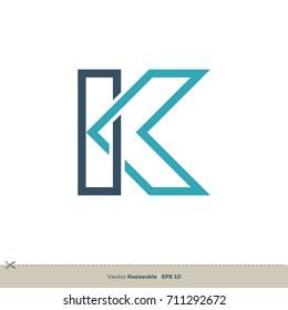 K Letter Logo Template Illustration Design. Vector EPS 10.