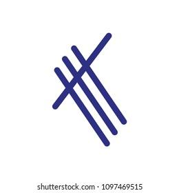 k letter vector logo
