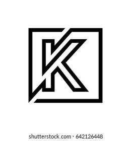 K Logo Letter Monogram. Logo Monogram,Logo K Letter,Lines Logo,Geometric Logo,Abstract monogram elegant logo design template.