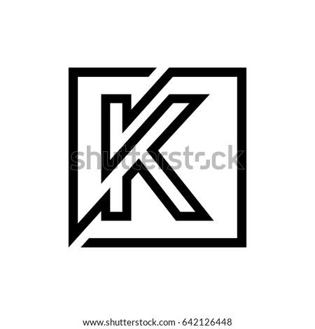 K Logo Letter Monogram. Logo Monogram,Logo K Letter,Lines Logo,Geometric