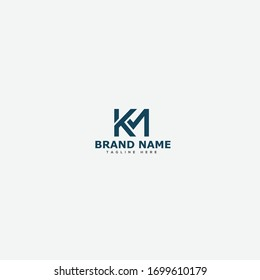 K M KM MK Initial logo template