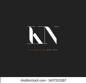 K & N letters Joint logo icon vector for business card and corporate identity.