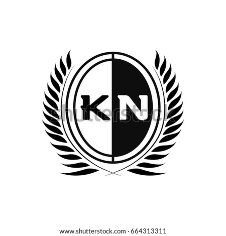 K N Logo Stock Vector Royalty Free 664313311