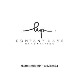 K P Initial handwriting logo