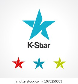 k star logo vector, icon, element, and template for business