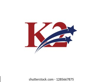 K2 logo and number with star